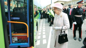 HM the Queen on the Busway