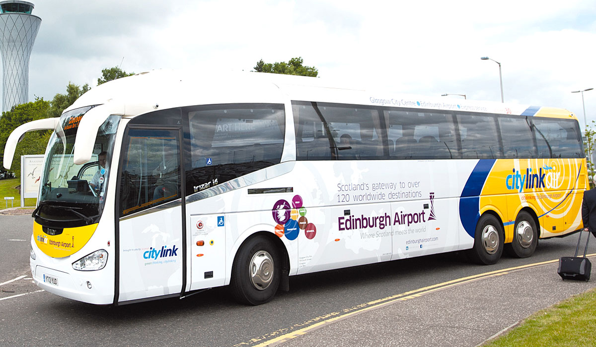 first edinburgh airport glasgow service launched bus. Black Bedroom Furniture Sets. Home Design Ideas