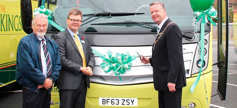 Elfan Ap Rees, Tom Stables and NSC Chairman, Alan McMurray, celebrate the launch.