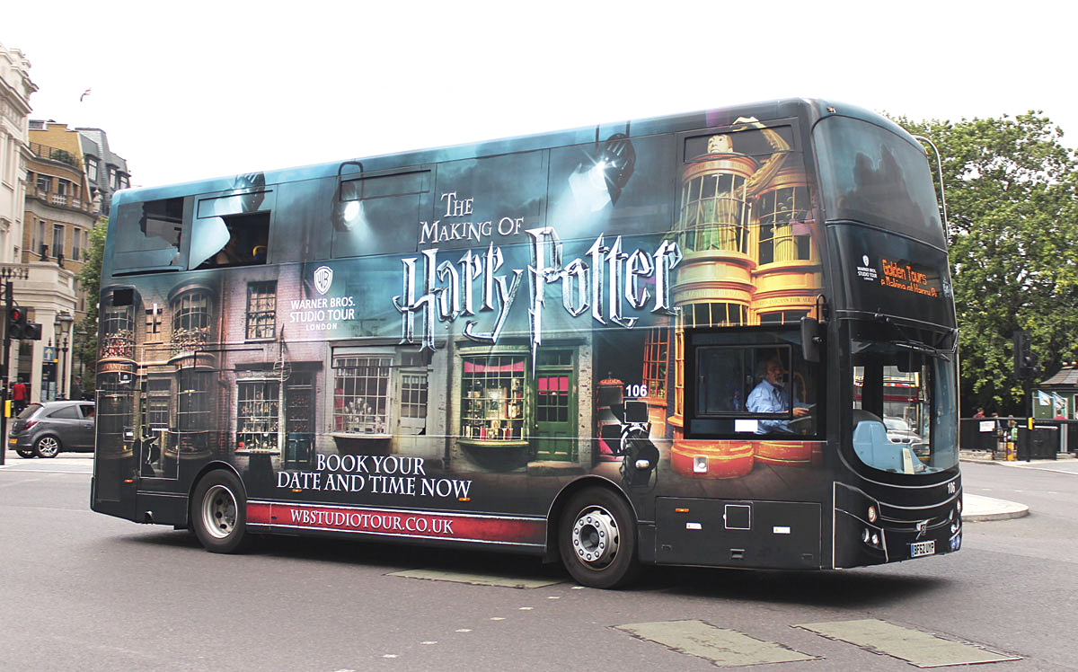 Golden Tours Harry Potter Bus
