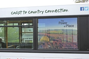 One of the Northumbria National Park contravision window adverts