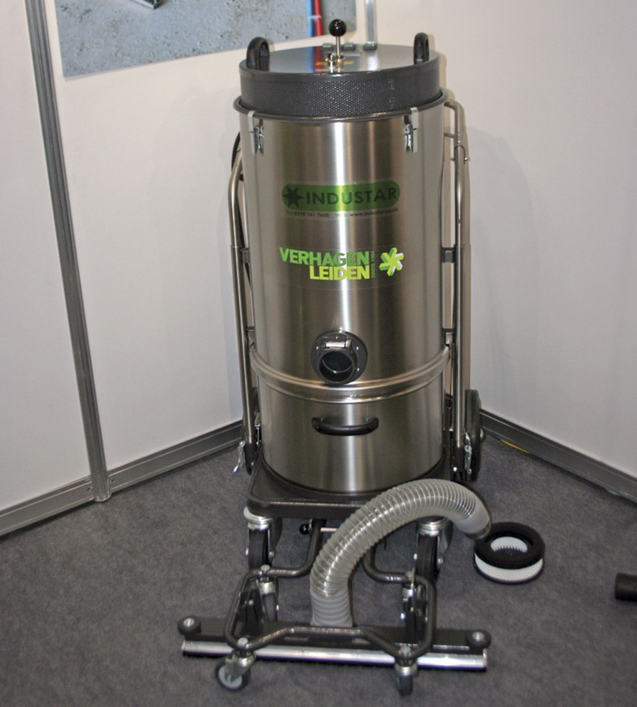 Industar had a range of Verhagen Leiden BV heavy duty vacuum cleaners on show