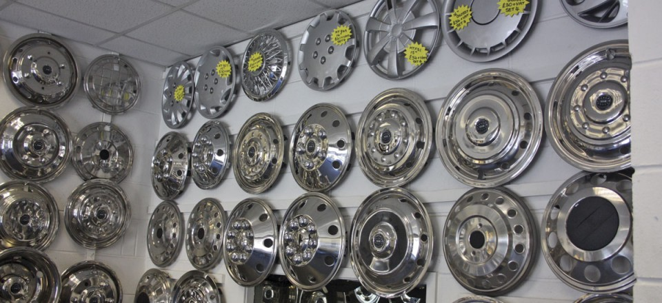 Just a few of the WAM range of wheel embellishments.