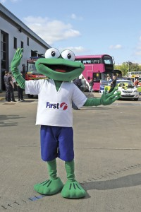 First Leicester's Freddie Frog Mascot