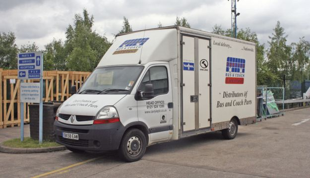 One of Carlyle's glazing delivery vans.