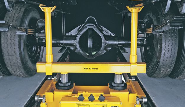 A pit jack and spreader from Majorlift.