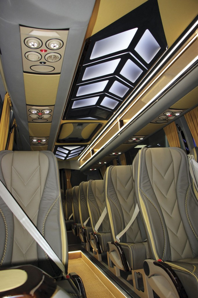 Unusual and effective interior treatment on a Sprinter by Erduman