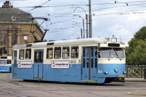 Hakan Agnevall made the point that, unlike electric buses, trams like this one in Gothenburg are far from silent. He should know, he lives next to a tram route