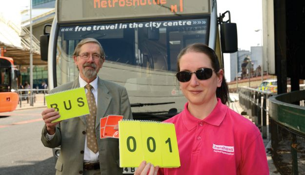 Visually impaired bus travel initiative