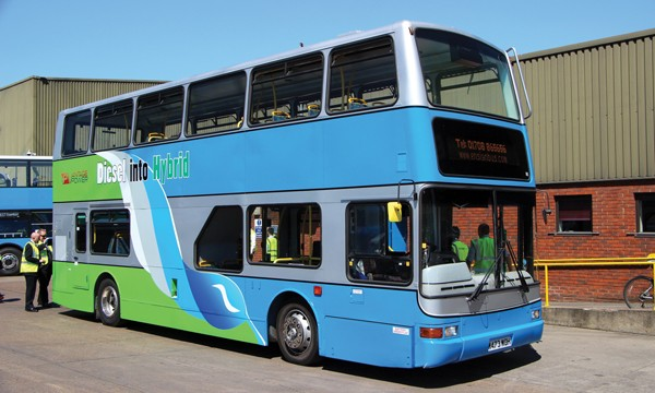Ensignbus provided Vantage Power with this 2000 Volvo B7TL Plaxton President to help develop their retrofit hybrid system.