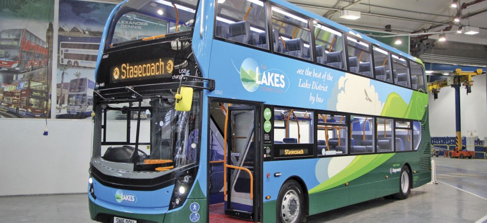 The special livery developed in conjunction with Best Impressions for the Stagecoach 'Lakes Connection'
