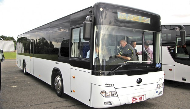 A surprise appearance was made by the new Yutong CB12 city bus which had only been in the country a matter of days.
