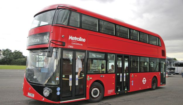 Possibly the most popular drive of the evening was the Wrightbus New Routemaster.