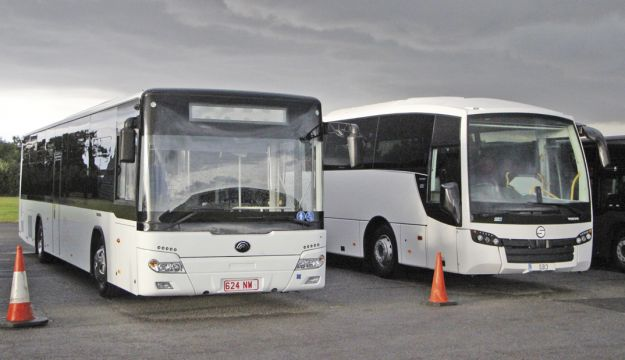 Two recent new options displayed were the Yutong CB12 city bus and the Sunsundegui SB3 Volvo B8R 72 seat school coach.