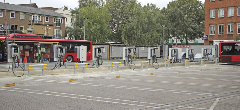 43 of these charging stations have been supplied by BYD and installed at Go-Ahead's Waterloo garage
