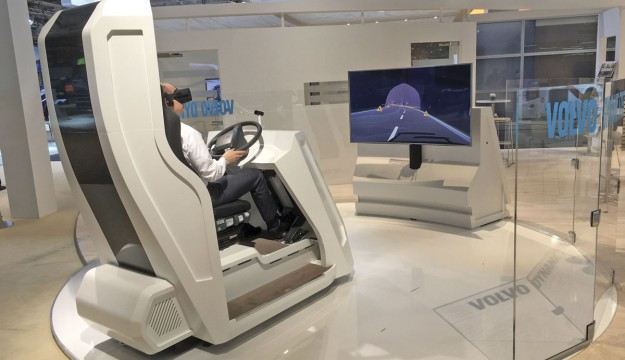 At Euro Bus Expo, a simulator will give visitors the opportunity to sample the VDS (Volvo Dynamic Steering) system