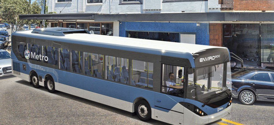A three axle version of the Enviro200 developed for New Zealand