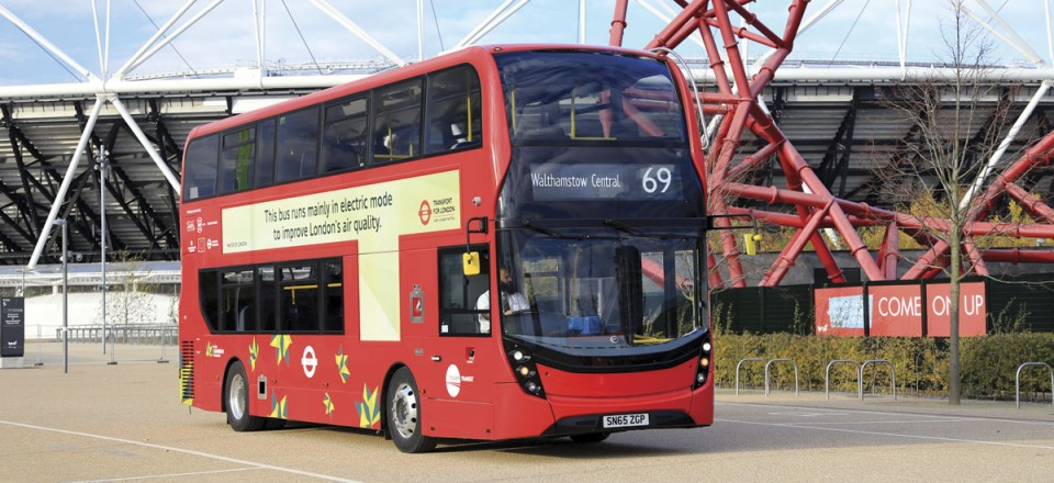 In addition to biomethane and hybrid, the Enviro400 is available with plug-in hybrid power trains