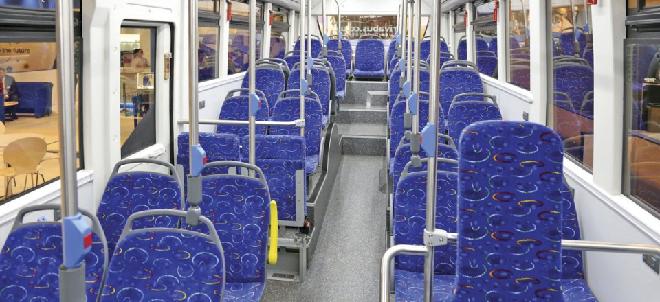 Interior of the Yutong E12 electric bus