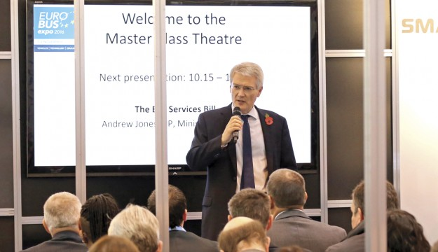 Minister speaks at Euro Bus Expo