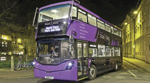 Purple park and ride
