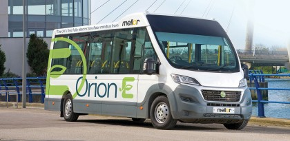 Mellor's 'world first' electric minibus