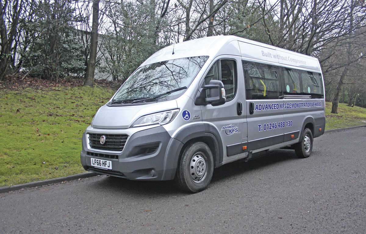 new accessible minibus from advanced kfs bus coach buyer. Black Bedroom Furniture Sets. Home Design Ideas
