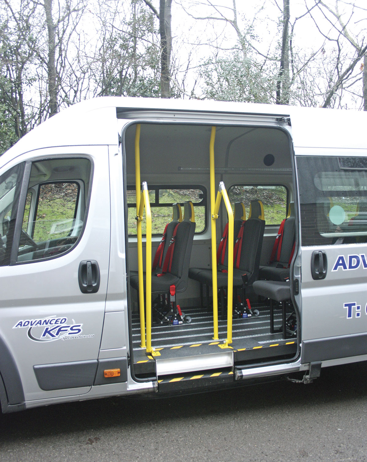 Steps For Buses : New accessible minibus from advanced kfs bus coach buyer
