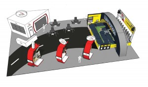 A diagram showing the layout of RHA's stand at this year's CV Show.
