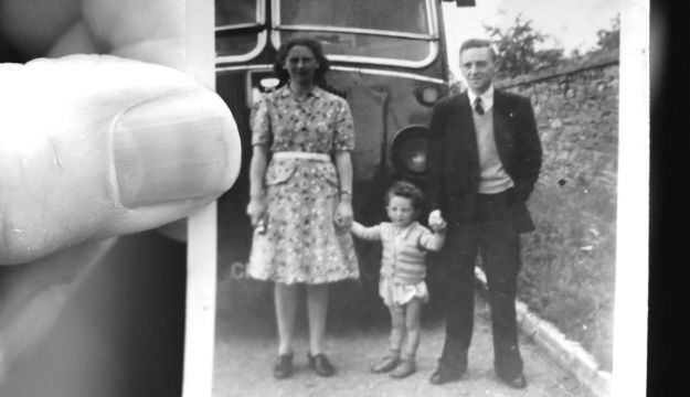 Alan Phillips has been fascinated by coaches for a very long time. Here he is with his parents and a Midland Red SLR type around 70 years ago.