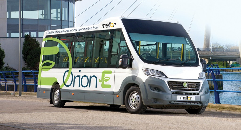 Mellor Coachcraft's Orion E electric minibus is to debut at the show, exhibited on Eberspächer's stand.
