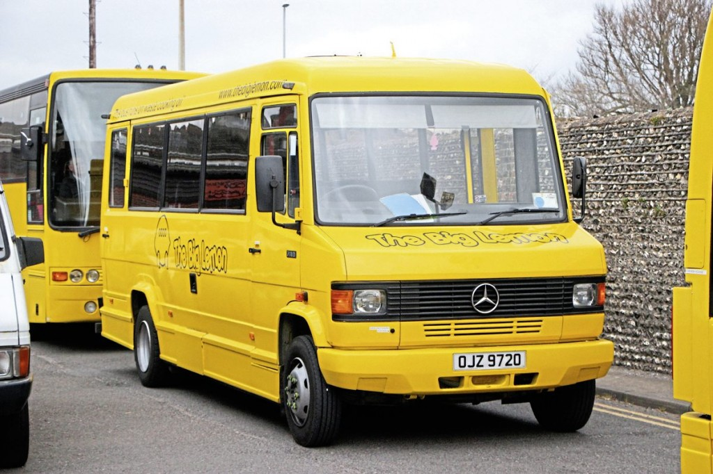 One of the Mercedes-Benz minibuses operated by The Big Lemon