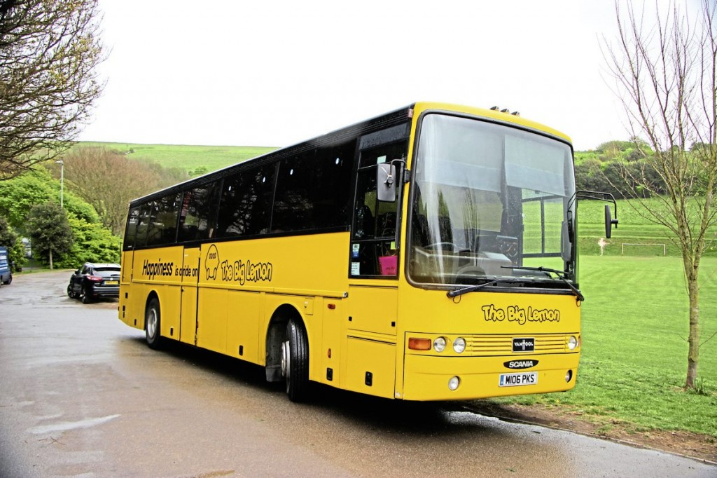 The coach fleet includes this Scania Van Hool T8