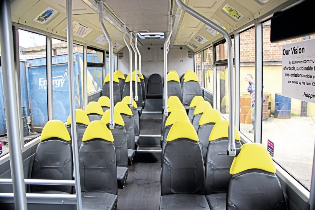 The interior of the Solo which was refurbished by Thorntons