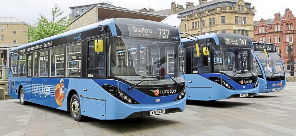Best Impressions has designed an attractive new version of the Flying Tiger brand which has also been applied to one of the 2014 Optare Versas used on the Leeds service