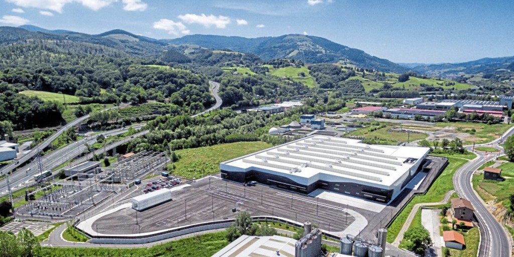 The exterior of the new Irizar electromobility plant at Aduna. It will be officially opened in March 2018 but is already building in small numbers.