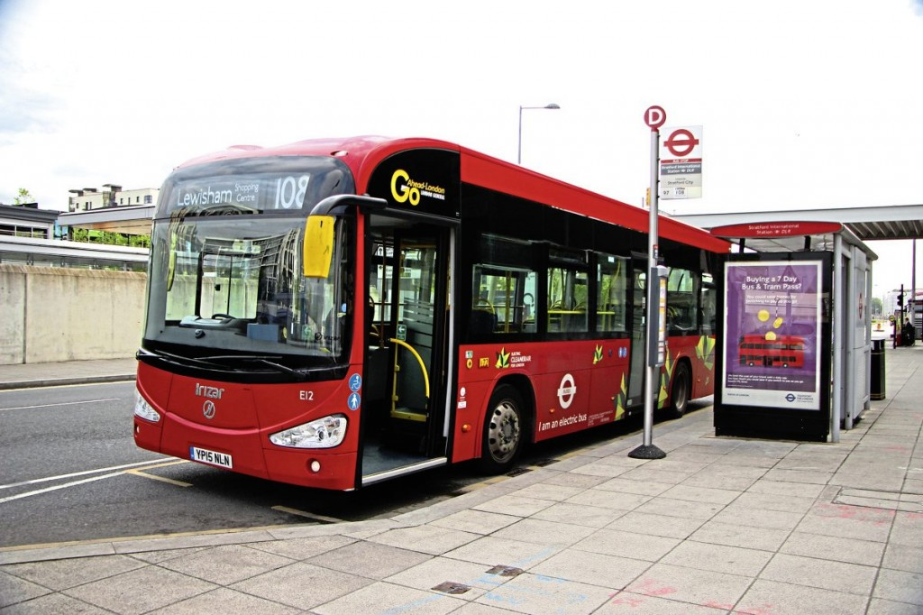 This i2e electric bus is one of a pair delivered to London in 2015 as part of the ZeEUS project and now employed on the 108.