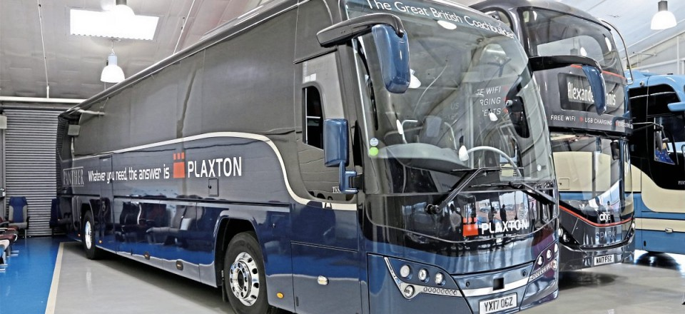 The current Plaxton Panther demonstrator