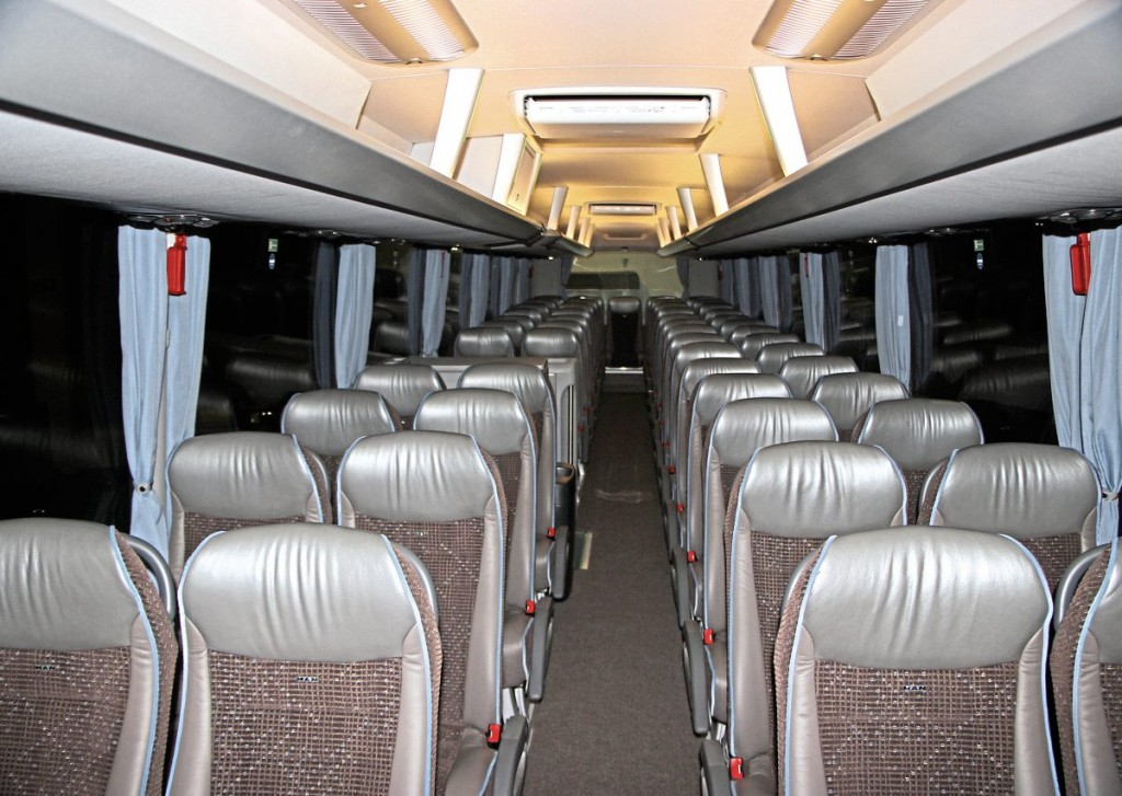 The interior of one of the MAN Lion's Coach launch vehicles