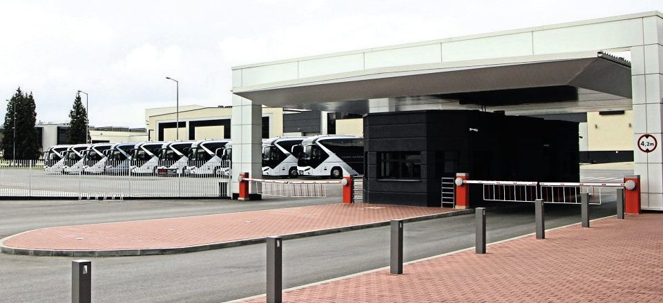 This picture of the entrance to Starachowice gives an impression of the size of the plant