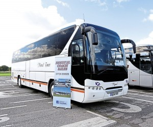 Making its debut at the event was Festival Coach Sales, who brought this Neoplan Tourliner along