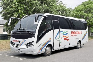 The 2017 investment programme consisted of four Unvi Vega Ex; two Unvi Voyagers and five Plaxton Panther Execs on Volvo B8R chassis -2