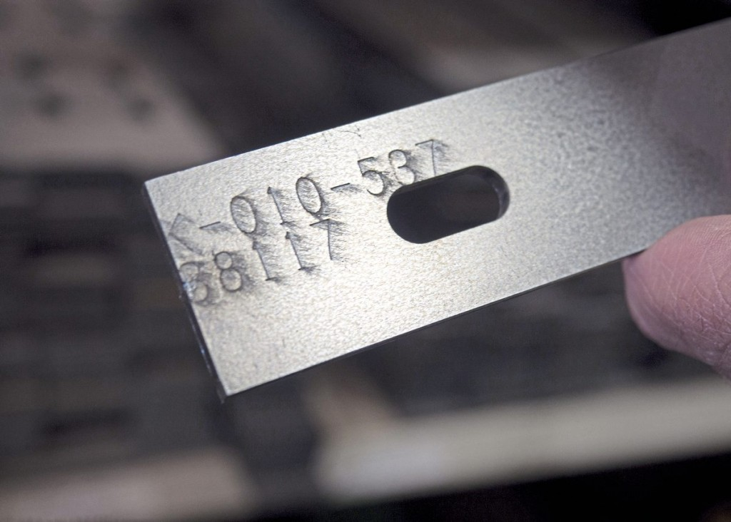 Every part number is stamped on the part, and a record of every vehicle includes this detail