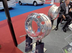 Examples of Alcoa's wheels were shown