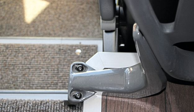 The support for the front decency screens is being redesigned as it catches passengers' ankles