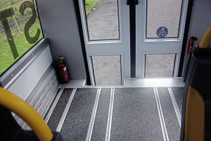 The floor is fully tracked and all seats are removable to create wheelchair space. Customers can choose from a range of seats and fixings