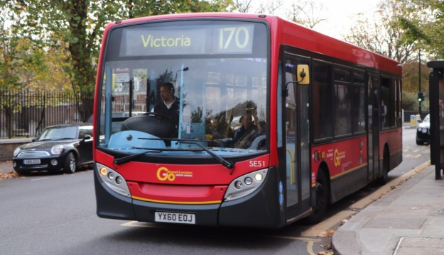 The first of six trips on Go-Ahead buses was on this Enviro200 on the 170