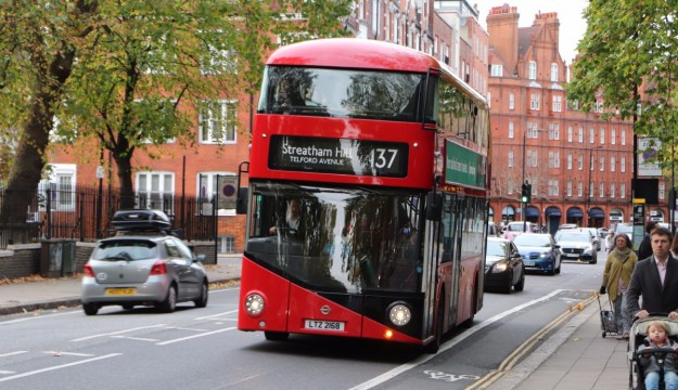 Only three of our journeys involved travelling on the New Bus for London, the first of which was the 137 over Chelsea Bridge