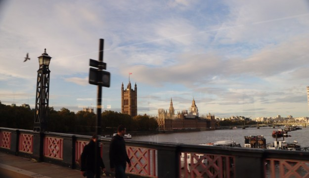 Westminster Bridge and the Palace of Westminster from Lambeth Bridge