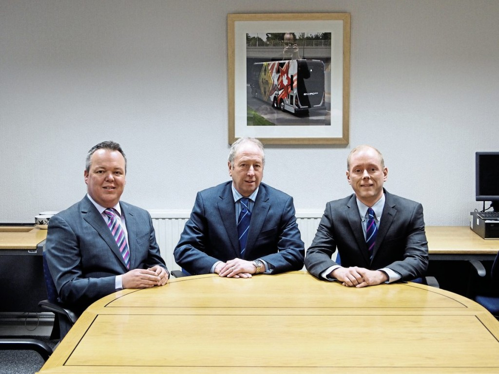 (LtoR) General Manager Used Sales, Martin Dunleavy; Sales Director, Richard Matthews and General Manager Coach Sales, Simon Wood